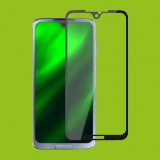 Für Motorola Moto G7 / G7 Plus 1x 3D Display 0, 3 mm H9 Hart Glas Schwarz Folie