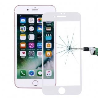 Premium 0, 3 mm gebogenes H9 Panzerglas Weiß Folie für Apple iPhone 8 4.7 Schutz
