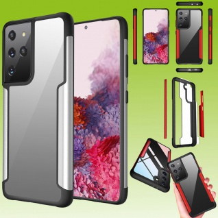 Für Samsung Galaxy S21 Ultra Hybrid Iron Man Silber Handy Tasche Etuis Hülle