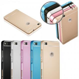 Alu Bumper 2 teilig mit Abdeckung Rosa für Huawei Ascend P8 Lite Tasche Hülle - Vorschau 4