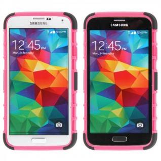 Hybrid Case 2 teilig Robot Pink Cover Hülle für Samsung Galaxy S5 Mini G800 F A - Vorschau 2