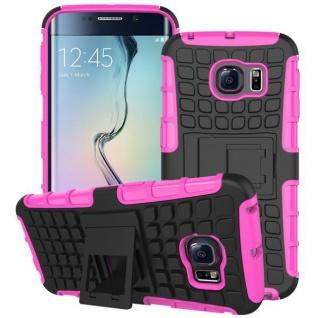 Hybrid 2 teilig Outdoor Hülle Tasche Pink für Samsung Galaxy S6 Edge Plus G928 F