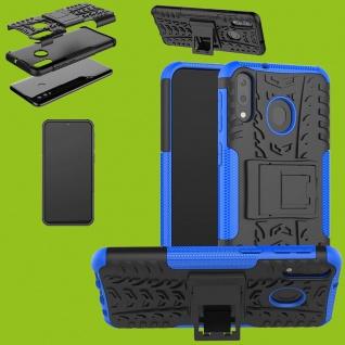 Für Samsung Galaxy A50 / A30s Hybrid Case 2teilig Outdoor Blau Tasche Hülle Etui