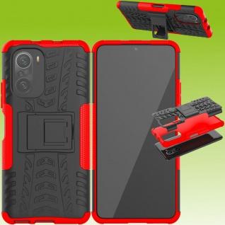 Für Xiaomi Redmi Note 10 / 10s Hybrid Case Outdoor Rot Handy Tasche Etui Cover