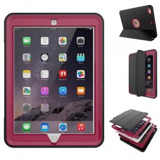 Hybrid Outdoor Schutzhülle Cover Pink für Apple iPad Air 2 Tasche Case Neu