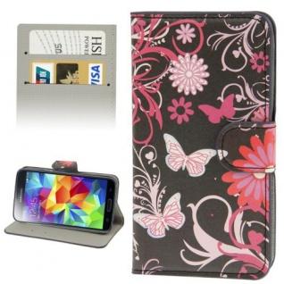Bookcover Wallet Muster für Samsung Galaxy Tasche Hülle Case Etui Cover Schutz - Vorschau 5