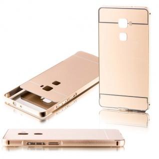 Alu Bumper 2 teilig mit Abdeckung Gold für Huawei Mate S 5.5 Tasche Hülle Case