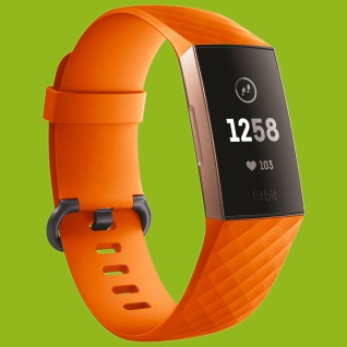 Für Fitbit Charge 3 Kunststoff / Silikon Armband für Männer Größe L Orange Uhr