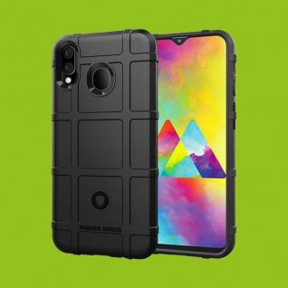 Für Samsung Galaxy M20 Shield Series Outdoor Schwarz Tasche Hülle Cover Etuis Case