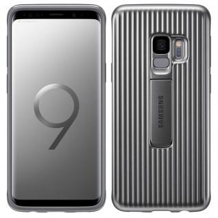 Samsung Protective Standing Cover EF-RG960CS für Galaxy S9 G960F Tasche Silber