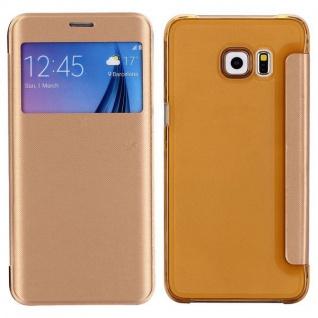 Smartcover Window Gold für Samsung Galaxy S6 Edge Plus G928 F Tasche Hülle Case