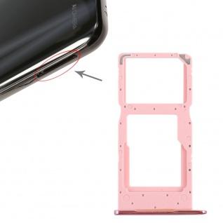 Für Huawei P Smart 2019 Karten Halter Sim Tray Schlitten Holder Pink Neu Ersatz
