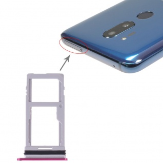 Sim Karten Halter für LG G7 ThinQ Card Tray Pink Ersatzteil Schlitten Reparatur