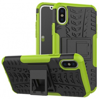 New Hybrid Case 2teilig Outdoor Grün für Apple iPhone XS MAX 6.5 Tasche Hülle