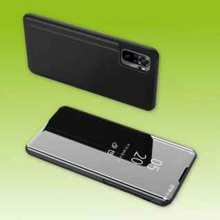 Für Xiaomi Redmi Note 10 Pro View Smart Cover Hülle Schwarz Handy Tasche Etuis