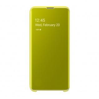 Samsung Flip Tasche Clear View EF-ZG970CYEGWW für Galaxy S10e G970F Cover Gelb - Vorschau 5