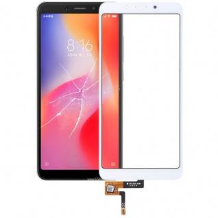Reparatur Displayglas Touch Screen für Xiaomi Redmi 6 LCD Weiß Ersatz Scheibe