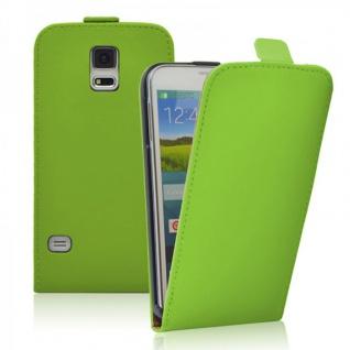 Fliptasche Deluxe Grün für Samsung Galaxy S5 G900F Tasche S5 Plus G901F Hülle