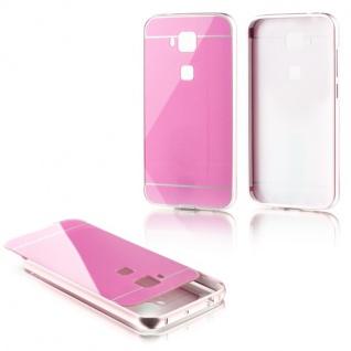 Alu Bumper 2 teilig mit Abdeckung Rosa für Huawei G8 5.5 Zoll Tasche Hülle Neu