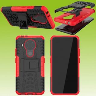 Für Nokia 5.4 Outdoor Rot Handy Tasche Etuis Hülle Cover Case Schutz Zubehör Neu