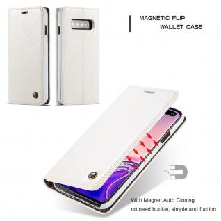 Schutzhülle Handy Tasche für Samsung Galaxy S10 Lite Business Bag Wallet Weiß