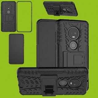 Für Motorola Moto G7 / G7 Plus Hybrid 2teilig Outdoor Schwarz Tasche Etuis Hülle