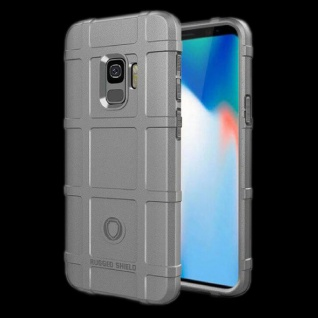 Für Samsung Galaxy S9 G960F Shield Series Outdoor Grau Tasche Hülle Cover Case