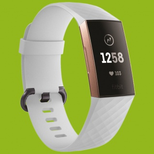 Für Fitbit Charge 3 Kunststoff / Silikon Armband für Männer / Größe L Weiß Uhr