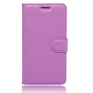 Tasche Wallet Premium Lila für Huawei Honor 6C Hülle Case Cover Etui Schutz Neu - Vorschau 3