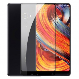 Für Xiaomi MI MIX 2S 3D Premium 0, 3 mm H9 Glas Schwarz Folie Schutz Hülle Neu