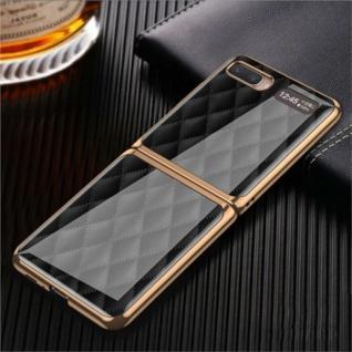 Für Samsung Galaxy Z Flip Schutzcase Hartschale Schutz Black Grid Cover Zubehör