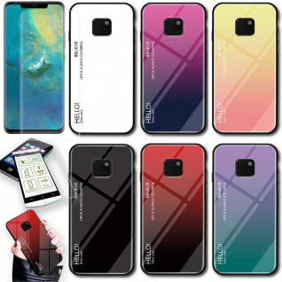 Für Samsung Galaxy J4 Plus J415F Color Effekt Glas Cover Lila Tasche Hülle Case - Vorschau 4