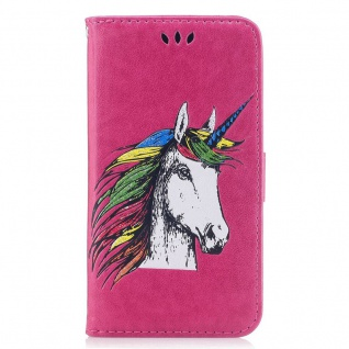 Tasche Wallet Einhorn Pink für Huawei P10 Lite Hülle Case Cover Etui Schutz Neu - Vorschau 4