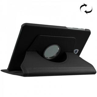 Schutzhülle 360 Grad Schwarz Tasche für Samsung Galaxy Tab S2 8.0 SM T710 T715N