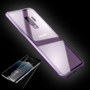 Für Samsung Galaxy Note 9 Magnet Tasche Pink / Transparent + 0, 3 4D H9 Glas Neu