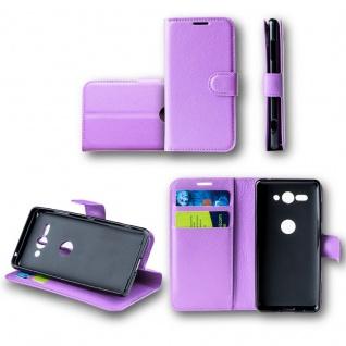 Für Wiko View 2 Tasche Wallet Premium Lila Hülle Case Cover Schutz Etui Neu Top