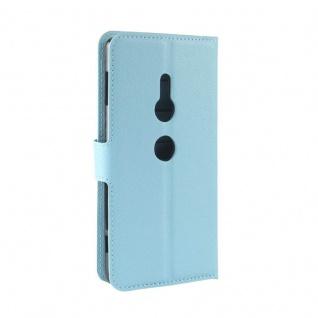 Tasche Wallet Premium Blau für Sony Xperia XZ2 Hülle Case Cover Schutz Etui Neu - Vorschau 3