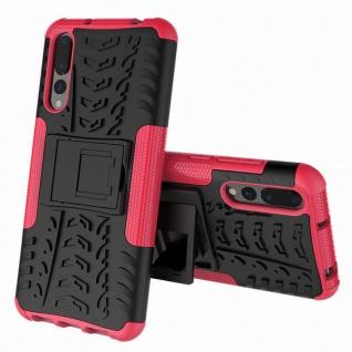 Hybrid Case 2teilig Outdoor Pink für Huawei P20 Etui Tasche Hülle Cover Schutz