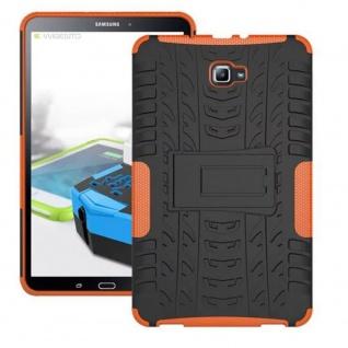 Hybrid Outdoor Schutzhülle Orange für Samsung Galaxy Tab A 10.1 T580 T585 Tasche