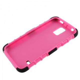 Hybrid Case 2 teilig Robot Pink Cover Hülle für Samsung Galaxy S5 Mini G800 F A - Vorschau 4