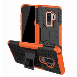 Hybrid Case 2teilig Outdoor Orange Tasche Hülle für Samsung Galaxy S9 Plus G965F