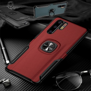 Für Huawei P30 Pro Magnet Metall Ring Hybrid Rot Tasche Hülle Etuis Cover Case