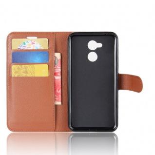 Tasche Wallet Premium Braun für Huawei Honor 6A Hülle Case Cover Etui Neu Schutz - Vorschau 4