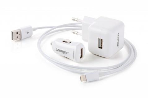 3in1 All in One Power SET für APPLE iPAD iPHONE 2, 1 A mit LightningConnector Datenkabel Zubehör TOP