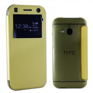 Smartcover Window Gelb für HTC One Mini 2 Tasche Cover Case Hülle Zubehör Neu - Vorschau 1