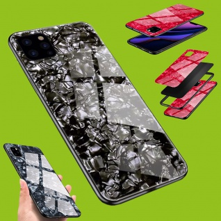 Für viele Smartphone Modelle Effekt Design Glas Tasche Case Hülle Cover Etuis - Vorschau 2