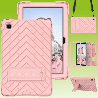 Für Samsung Galaxy Tab A7 2020 Shockproof Hybrid Hülle Band Pink