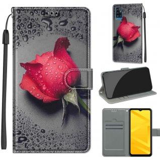 Für ZTE Blade A71 Kunst-Leder Handy Tasche Motiv 3 Hülle Etuis Case Cover Schutz