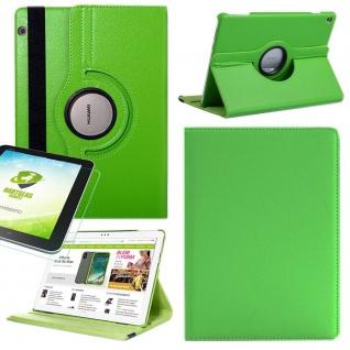 Für Apple iPad Pro 12.9 3. Gen Grün 360 Grad Hülle Tasche Kunstleder + Hart Glas