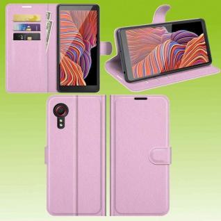 Für Samsung Galaxy Xcover 5 Smart Handy Tasche Rosa Etuis Kunst-Leder Hülle Neu